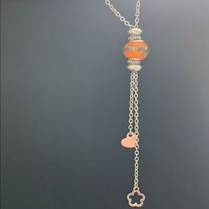 Jewelry - Orange crystal bead necklace